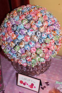 """LollyPOP Tree made by @Lindsay Mullinax for a """"Ready to Pop"""" baby shower."""