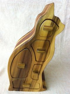 Cat Band Saw Box w/hidden drawer by Staggwood on Etsy, $45.00