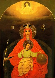 "Icon of the Icon of the Mother of God ""Enthroned"""