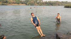 I have a black belt on falling down  Bedekar Hemraj HR #Featured #Shuttographer #StaffPick #swim #fall #lake #fun #funny