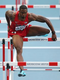 David Oliver David Oliver of the United States competes in the Men's 110 metres hurdles semi final during Day Three of the 14th IAAF World Athletics Championships Moscow 2013 at Luzhniki Stadium on August 12, 2013 in Moscow, Russia.