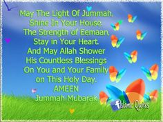 Jummah Mubarak to all Muslims! Dont forget to read surah al Kahf and pray Jummah <<3 Tc and plz remember me in your prayers, salaam! ^-^