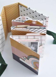 Mini Album Scrapbook, Photo Album Scrapbooking, Baby Scrapbook, Handmade Scrapbook, Scrapbook Designs, Scrapbook Paper Crafts, Mini Albums, Baby Mini Album, Matchbox Crafts