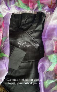 Angrakha Style, Silk Dupatta, Ted Baker, Hand Painted, Tote Bag, Suits, Bags, Fashion, Handbags