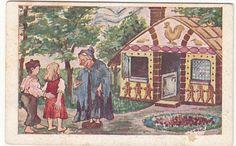N°3 Hänsel & Gretel Jeannot & Margot Grimm Conte Fée FAIRY TALE IMAGE CHROMO