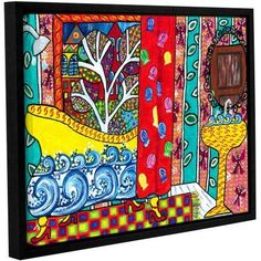 ArtWall Debra Purcell Reflections Gallery-Wrapped Floater-Framed Canvas, Size: 18 x 24, Multicolor