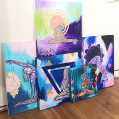The #radiancesutraseries collection of paintings is starting to come together! These paintings will be available on my website on April 5th. You can view my other collections at elizalynntobin.com/all