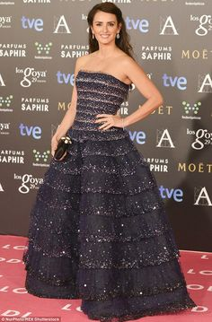 She's still got it: Even after two children, 40-year-old Cruz, seen here at the Goya Awards earlier this month, still looks spectacular