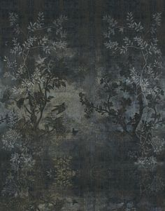 midsummer night wallpaper wall and deco. Wallpaper I have to have Inspiration Wand, Interior Inspiration, Custom Wallpaper, Wall Wallpaper, Chinoiserie, Wall Murals, Wall Art, Wall Pepar, Grisaille