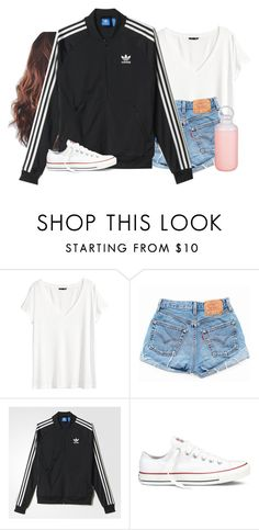 """Can't wait to wear this outfit-just ordered this jacket"" by aweaver-2 ❤ liked on Polyvore featuring H&M, Levi's, adidas, Converse and Contigo"