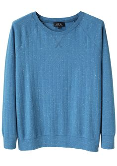 Currently coveting this A.P.C. Raglan pullover ... beautiful blue. #fallfashion @lagarconne