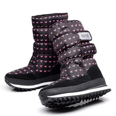 Latest Women's Snow Boots Durable Rubber Soles Shoes Trendy Printing Warm Boots
