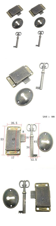 cabinet Curio Cabinet Vintage Lock /& Key REPLACEMENT set