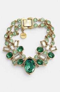 Givenchy Emerald and Crystal Necklace