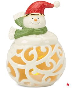 This adorable light-up Snowman figurine from Lenox will look amazing on your entry table — each of your visitors will feel the Christmas spirit as soon as they set foot inside