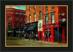 Ireland Framed Print featuring the photograph Focus On Red. The Oak Pub. Streets Of Dublin. Painting Collection by Jenny Rainbow Art Prints For Home, Home Art, Fine Art Prints, Framed Artwork, Framed Prints, Wall Art, Fashion Room, Color Pallets, Fine Art Photography