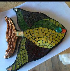 Pez mosaico y cobre