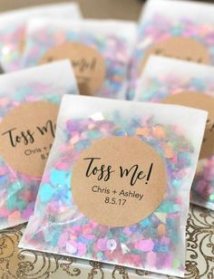 Wedding Day Wedding Confetti Wedding Confetti Bags Confetti Toss - Details: - Minimum purchase of (sold in quantities of - Can purchase either: - Bags Wedding Tips, Diy Wedding, Dream Wedding, Wedding Day, Wedding Details, Budget Wedding, Rustic Wedding, Wedding Venues, Elegant Wedding