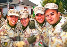 Me and the army girls