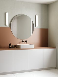 Круглые зеркала в интерьере