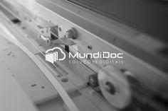 Logo MundiDoc - versão monocromática.