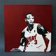 12 x 12 Dwayne Wade Miami Heat Screenprint by TheLimelightProject, $40.00