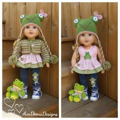 Spring  complete Frog outfit clothes for 18 inch doll - american girl doll | eBay