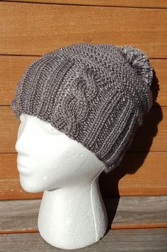 Slouchy knit hat Glitter Winter hat slouchy by UniqueKnitDesign