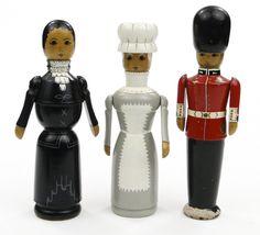 Trio of Robin & Nell Dale stump dolls