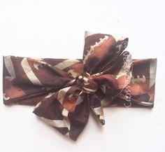 Autumn Head wrap Football Print headband  bow  head by NeAccessory