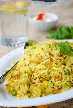Aloo aur matar ki Tehari or Tahiri (vegetable rice)