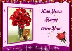 Animated Happy New Year Greeting Ecard 2014, GIF  Wish you a very happy new year greetings.