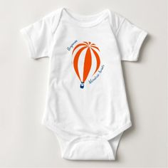 Hot Air Balloon Vest Baby Bodysuit - baby gifts child new born gift idea diy cyo special unique design