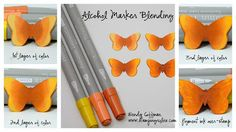 Stamping Rules!: Alcohol Marker Blending using CTMH Markers not Copic