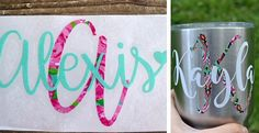 Printed Vinyl Monograms, perfect for yeti cups, laptops, cars, or anywhere else you would like to monogram!