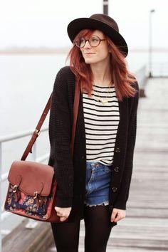 stripes and vintage cutoffs