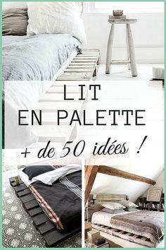 Lit en Palette : +50 Idées Pour Fabriquer un Lit en Palette  http://www.homelisty.com/lit-en-palette/