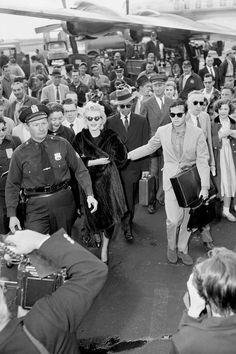 Marilyn Monroe à l'aéroport d'Idlewild à New York en 1956