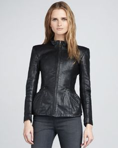 Theyskens' Theory Jabari Leather Jacket