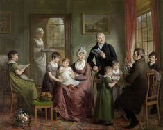 Portrait of the Family of Adriaan Bonebakker with Dirk L. Bennewitz, Adriaan de Lelie, 1809