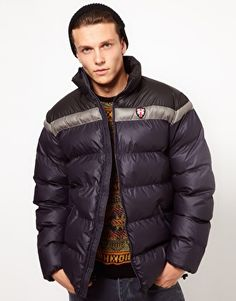 Enlarge Puffa Jacket with Contrast Shoulders - $98.22