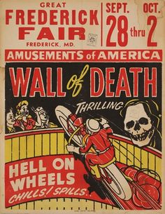 Globe quickly expanded its business to include carnivals and fairs, auto races, political campaigns and music concerts. Here's an example of a fair poster, date unknown.