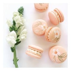 Hand-painted macarons for Cat's Bridal Shower this weekend! Thank you, @anthonyandstork for asking us to be involved in this one!