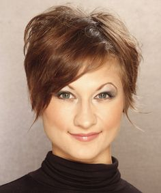 Short Hairstyle - Straight Casual - Light Brunette | TheHairStyler.com