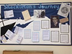 Year 5 Shackleton's Journey Display Classroom Displays Ks2, Year 6 Classroom, Classroom Display Boards, Ks2 Classroom, Polaroid, Working Wall, 5th Class, Artwork Display, Display Ideas