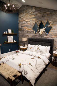 Мужской интерьер: стильная спальня для холостяка   Colors.life