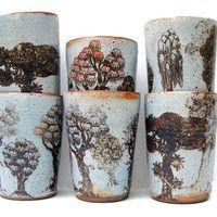 Lucy Vanstone Ceramics - Tree Gallery - Shino TreeSeries