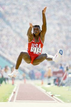 Carl Lewis dominated track and field for almost 20 years. A nine-time gold medalist, Lewis won gold medals in four different Olympic Games. His four gold medals in the 1984 Olympics tied Jesse Owens for the top gold medal haul in Track and Field 1984 Olympics, Summer Olympics, Long Jump, High Jump, Olympic Track And Field, Carl Lewis, Jesse Owens, Triple Jump, Pole Vault