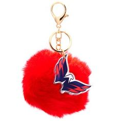 9ec526fe6 Washington Capitals Cuce Faux Fur Pom Bag Charm and Keychain - Red Nhl  Washington Capitals