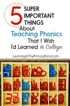 Do you know these 5 things about teaching phonics? If you're a Kindergarten, first grade, or second grade teacher, these concepts are essential for successfully teaching reading! - Learning at the Primary Pond Phonics Reading, Teaching Phonics, Phonics Activities, Kindergarten Reading, Teaching Reading, Teaching Kids, Kids Learning, Kindergarten Phonics, Teaching Resources